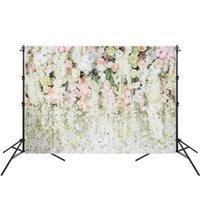 Wholesale flowers studios background resale online - 150X210cm Vinyl Photo Studio Background Flower Wall Photography Backdrop For Wedding Party Photo Prop
