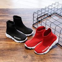 chaussettes de sport bébé garçon achat en gros de-2019 mode infantile occasionnels baskets bébé garçons respirant maille chaussures enfants chaussettes de sport chaussures enfants printemps automne filles chaussures de course