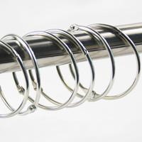 anillos varillas al por mayor-Clip de cortina Nuevo metal de alta calidad Cortina de ducha Varilla Abrazadera Anillo Cortinas Clip Gancho de cortina EEA220
