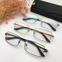 4ff05670131 2019 Retro Luxury Glasses Famous Men Designer Brand Rectangle Full Frame  Eyeglasses Frame High Quality Titanium Reading Eyewear with Package