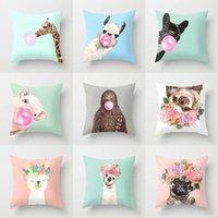 Wholesale llama decor for sale - Group buy Cartoon Animal Decorative Throw Pillow Case Cushion Cover Home Decor Giraffe Sofa Car Waist x45cm Llama Alpaca Party