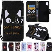 tier iphone 5s abdeckungen großhandel-Happy Cute Animal Leder-Handyhülle für iPhone XR / XS / MAX 8G 7S 6S 5S NOTE9 / 8 S9 / PLUS mit Ständer