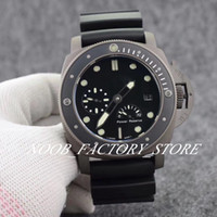 Wholesale classic dive watches for sale - Group buy Luxury Black Classic PAM Power Reserve Automatic Movement mm Men Watch Rotating Ceramic Bezel Black Rubber Strap Diving Mens Watches