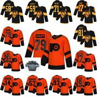 Wholesale jake guentzel jersey resale online - 2019 Stadium Series Pittsburgh Penguins Jersey Phil Kessel Jake Guentzel Flyers Jakub Voracek Nolan Patrick Hockey Jerseys