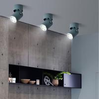 ingrosso ha condotto i soffitti del soffitto della cucina-Faretto decorativo da soffitto rotondo a soffitto COB LED per vetrine da esposizione commerciale Photo Gioielli Mini Gimbaled 110V 220V