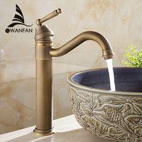 Wholesale vanity wash basins resale online - Basin Faucets Bath Antique Finish Brass Water Tap Bathroom Basin Sink Faucet Vanity Faucet Wash Basin Mixer Taps Crane