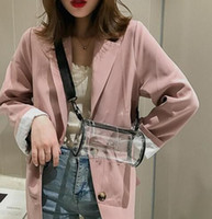 Wholesale cylinder pc online - Transparent PVC Printed Letters Cylinder Shoulder Bag Women Clear Jelly Beach Bags For Women Candy Messenger Crossbody Bag Girls