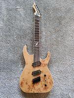 capas de serpentes vermelhas venda por atacado-Personalizado de sete cordas fã guitarra elétrica, cor de madeira e fingerboard asa de frango