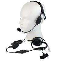 fones de ouvido militares walkie talkie venda por atacado-Dedo PTT MIC Militar Condução Do Osso Tático Headset para Motorola HT1000 MTS2000 XTS3000 MT MTX Rádio Walkie Talkie C2226A