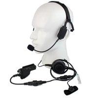 walkie militaire achat en gros de-Doigt PTT MIC Casque tactique de conduction osseuse militaire pour Motorola HT1000 MTS2000 XTS3000 MT MTX Radio Talkie-walkie C2226A