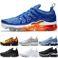 Wholesale soft work shoes resale online - TN Plus Sneaker Men Women Running Shoes Sunset Triple Black White Silver Patterns Game Royal Work Blue SILVER PATTERNS Trainer Sport Sneaker