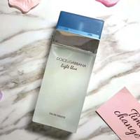 стеклянные бутылки с духовкой оптовых-2019 Новый светло-синий нейтральный парфюм классический квадратный флакон прочный свежий парфюм для макияжа спрей стеклянная бутылка 100 мл3.4FL унция.
