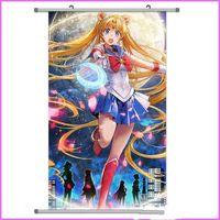 mond comic-bilder großhandel-Comic Welle Sailor Moon Zeichnung Tuch Malerei Peripherie Hängen Bild Japanischen Anime Heißer Verkauf Schön Aussehende Multiple Styles student