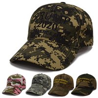Wholesale 3d embroidery caps snapback for sale - Group buy Pink Camouflage Donald Trump Hat Baseball Cap Keep America Great Hat D Embroidery Star Letter Camo Adjustable Snapback M199F