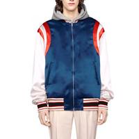 mans jacke blaue farbe großhandel-19FW Color Collision Rot Blau Weiß Jacke Star Logo Outdoor Herren Damen Mantel Street Casual Sport Outwear Jacke HFHLJK006
