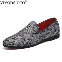 Wholesale casual men elegant shoes resale online - Men Handmade Exquisite Embroidery Leather Shoes Colorful Business Dress Shoes Elegant Man Fashion Casual Flats Plus Size