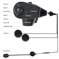 haut-parleurs de moto sans fil bluetooth achat en gros de-5 coureur moto Full Duplex 1200m Intercom Bluetooth sans fil Bluetooth Walkie Talkie FM Interphone Interphone Haut-parleur GPS MP3