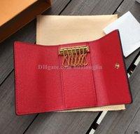 Wholesale key wallets resale online - Keys Wallets Wallet holder case bag woman men original box high quality brand designer fashion