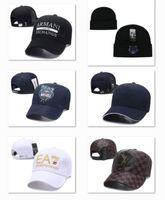 bilyalı uç kapakları toptan satış-Su geçirmez Deri Logosu Açık Top Kapaklar High End Beyzbol Şapkaları Lüks D2 Top Kap Kedi Rahat Kamyon Şoförü Şapka Moda Erkek Tasarımcı Şapka DF13G8