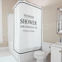 sets de douche noir achat en gros de-Douche de rideau de salle de bains moderne noir blanc de Bath de salle de bains pour l'usage quotidien rideau de douche réglé nordique imperméable 180x180cm