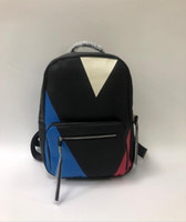 Wholesale fashion travel backpack for sale - Group buy men women backpacks big capacity fashion travel bags bookbags classical style genuine PU leather top qualty N41612
