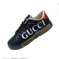 ingrosso scarpe sportive ad alto taglio delle donne-Scarpe da corsa sportive da uomo in pelle di alta qualità Scarpe da ginnastica sportive da uomo con toppe ricamate in pelle tagliate bianche tagliate taglia 36-44
