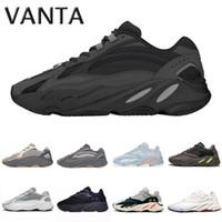 80705d809 moda onda azul venda por atacado-Adidas Yeezy boost 700 running shoes core  triplo preto