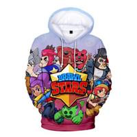 Wholesale boy hoodie star sleeves online – oversize BRAWL STARS D Print Hoodies Sweatshirt Fashion comfortable Parent child Hoodies Pullovers Casual Hipster Autumn kids boy Hoody