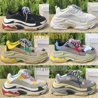 Wholesale women s blue casual shoes resale online - Luxury Triple S Triple Black Men Women White Clear Sole Fashion Designer Shoes Chaussures Split Black Grey Casual shoes