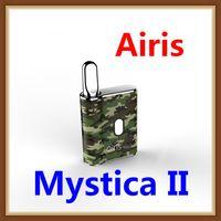 e vaporizador mods al por mayor-Original Airis Mystica II 2 airistech Preheat VV Box Mod 450mAh Batería Vape Pen Cartucho de aceite grueso 510 Vaporizador magnético e Kit de cigarrillo