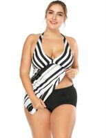 9fd7b5762e Plus Size S-3xl Swimwear Two Pieces Women 2019 Tankini Swimsuit With Short Swimming  Bath Suit Striped Maillot De Bain Biquinis