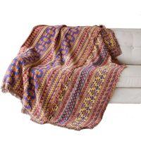 cadeira de mesa venda por atacado-Banco de malha Sofá Cobertor Home Decor Cadeira Sofá Cobertor Cobertor Sala de estar Tapete Boêmio Colcha Toalha De Mesa Mantas