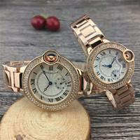japanische artuhren großhandel-2019 neue Luxusuhr Paare Stil klassische japanische Bewegung Quarz Mode Männer Herren Damen Damenuhr Diamant Uhren Armbanduhr