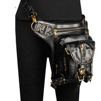 Motorbike Casual Waist Bag PU Faux Leather Motorcycle Backpack Retro Moto Tank Bag Motorcycle Outdoor Casual Waist Bag,A86