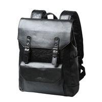 Wholesale satchel for laptop for sale - Group buy HOT Vintage Faux Leather Backpack Schoolbag Rucksack College Bookbag Laptop Computer Casual Daypack Travel Bag Satchel Bags for Men