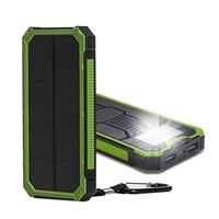 bancos de baterías solares al por mayor-Tollcuudda 20000 mah Solar Poverbank para Xiaomi Iphone LG Teléfono Banco de energía Cargador Batería portátil móvil Pover Bank Banco de energía