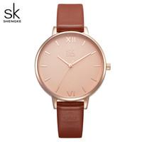 Wholesale geneva watch quartz for sale - Group buy Shengke Women Watches Luxury Brand Wristwatch Leather Women Watch Fashion Ladies Geneva Quartz Clock Relogio Feminino New SK