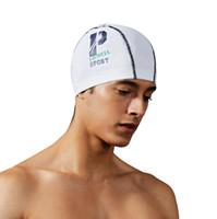 bonnet de bain gratuit achat en gros de-Bonnets de bain pour hommes branchés Swim Pool Hat Bonnet de bain imperméable Taille libre pour Hommes Amazonas vente chaude