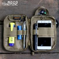 Wholesale bag tactical cordura for sale - ROCOTACTICAL Waterproof MOLLE Tactical Bags EDC Army Fan Sports Waist Bag Military Combat Pocket Organizer Cordura D Nylon