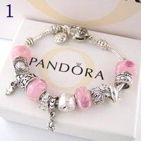 ingrosso braccialetto incanta i pendenti-Braccialetto di fascino di modo 925 Braccialetti d'argento di Pandor per il braccialetto di fascino del pendente dell'albero di vita delle donne Pandora Love Bead come regalo Gioielli diy con il logo