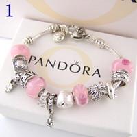 bracelet pendentif en argent 925 achat en gros de-Bracelet à breloques à la mode bracelet en argent 925 pour les femmes vie arbre pendentif bracelet breloque pandora amour perle cadeau bijoux bricolage avec logo