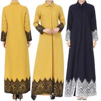 ingrosso corti cinesi scarni-abito musulmano di moda abaya abbigliamento islamico per donne musulmane con pizzo frontale Abaya Maxi Kaftan 8.8