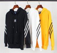 фитнес-пояс для женщин оптовых-Свободный пост 2019 мода осень и зима куртка с капюшоном для мужчин и женщин классический бег тренировки фитнес одежда спортивная одежда