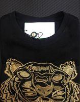 ingrosso maglione nero tigre-Ricamo tigre testa maglione uomo donna di alta qualità manica lunga o-collo pullover Felpe con cappuccio felpe migliore qualità Black Gold