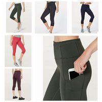 Wholesale yoga outfits women resale online - Women Yoga Outfits Ladies Sports Capri Leggings Summer Short Pants Exercise Fitness Wear Girls Brand Running Leggings ZZA238