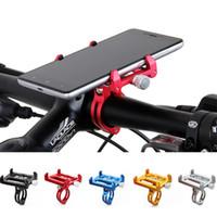 bisiklet için cep telefonu tutacağı toptan satış-Gub g85 metal Bisiklet Bisiklet Tutucu Motosiklet Kolu Telefon Dağı Gidon Genişletici Telefon Tutucu Iphone Cep Telefonu Gps Vb