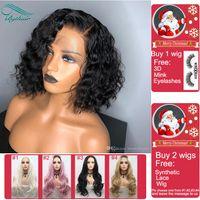 afrikalı amerikalı peruk insan toptan satış-Afrikalı Amerikalılar Bythair Peruk için Bebek Saç Brezilyalı Tam Dantel Peruk ile Yüksek Kaliteli Kıvırcık Tutkalsız Dantel Ön İnsan Saç Peruk