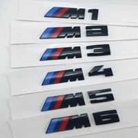 ingrosso logo del parafango-Sticker Logo 3D Glossy Black M1 M2 M3 M4 M5 X3M Chrome Emblem Car Styling Fender Trunk Badge per BMW E46 E90 Accessori auto