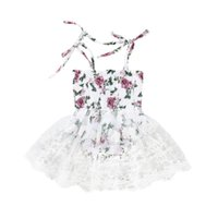 детская новорожденная одежда пачки пачек оптовых-Pudcoco Cute Baby Girls Floal Princess Party Dress Outfits Newborn Baby Lovely Lace Tutu Dress Summer Children Clothes 0-24M