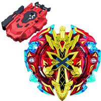 kırmızı beyblade toptan satış-Beyblade BURST B-48 Marş Xeno Excalibur. M. Yeni Çocuklar Oyuncak Üst LR Kırmızı Bey Launcher